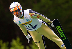 Rok Zima (SLO) of NSK Trzic Trifix during Ski Jumping Summer Continental Cup in Kranj, on July 2, 2011, in Kranj, Slovenia. (Photo by Vid Ponikvar / Sportida)