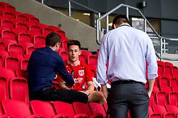 New Bristol City signing Josh Brownhill takes part in an interview - Mandatory by-line: Robbie Stephenson/JMP - 31/05/2016 - FOOTBALL - Ashton Gate - Bristol, England - Bristol City New Signing - Josh Brownhill