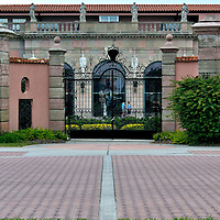 Front Gate of the Ringling Museum of Art in Sarasota, Florida <br />