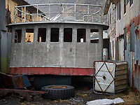 A part of an old Boat. Vík í Mýrdal, South Iceland.
