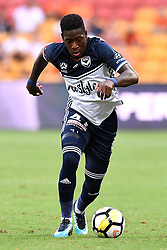 December 17, 2017 - Brisbane, QUEENSLAND, AUSTRALIA - Leroy George of Melbourne Victory (41) dribbles the ball during the round eleven Hyundai A-League match between the Brisbane Roar and the Melbourne Victory at Suncorp Stadium on Sunday, December 17, 2017 in Brisbane, Australia. (Credit Image: © Albert Perez via ZUMA Wire)