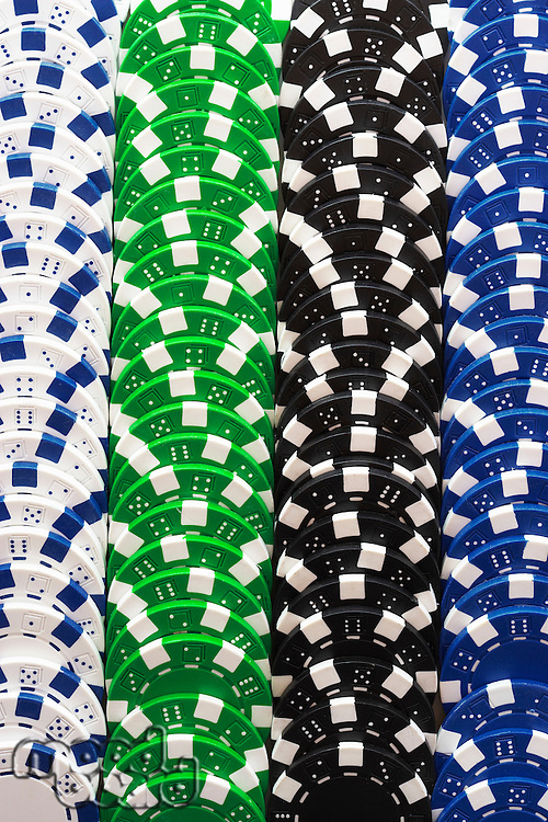 Stacks of Gambling Chips