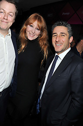 Left to right,  TOM PARKER BOWLES, CHARLOTTE TILBURY and LUCA DEL BONO at a party to celebrate the launch of Pomp magazine - a magazine representing London Luxury without the Ceremony focusing on the luxury, fashion and culture of the Capital, hosted by Tom Parker Bowles and the Directors of Pomp Magazine held at The Cuckoo Club, Swallow Street, London on 17th November 2011.
