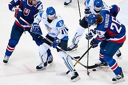 Pasi Puistola of Finland vs Michal Handzus of Slovakia during ice-hockey match between Finland and Slovakia of Group E in Qualifying Round of IIHF 2011 World Championship Slovakia, on May 7, 2011 in Orange Arena, Bratislava, Slovakia. (Photo by Matic Klansek Velej / Sportida)