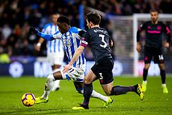 Adama Diakhaby of Huddersfield Town takes on Leighton Baines of Everton - Mandatory by-line: Robbie Stephenson/JMP - 29/01/2019 - FOOTBALL - The John Smith's Stadium - Huddersfield, England - Huddersfield Town v Everton - Premier League