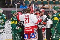 2020-01-17 | Umeå, Sweden: Fist talk in HockeyAllsvenskan during the game  between Björklöven and Timrå at A3 Arena ( Photo by: Michael Lundström | Swe Press Photo )<br /> <br /> Keywords: Umeå, Hockey, HockeyAllsvenskan, A3 Arena, Björklöven, Timrå, mlbt200117