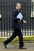 © Licensed to London News Pictures. 05/12/2012. Westminster, UK Defence Secretary Philip Hammond on Downing Street today, 5th December 2012, prior to the Autumn Statement to the House of Commons on the UK economy. Photo credit : Stephen Simpson/LNP