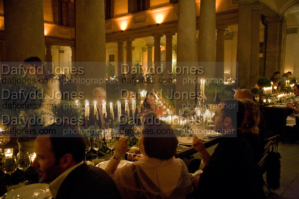 Luomo Vogue 40th Anniversary dinner. Palazzo Litta. Milan. 22 June 2008 *** Local Caption *** -DO NOT ARCHIVE-© Copyright Photograph by Dafydd Jones. 248 Clapham Rd. London SW9 0PZ. Tel 0207 820 0771. www.dafjones.com.