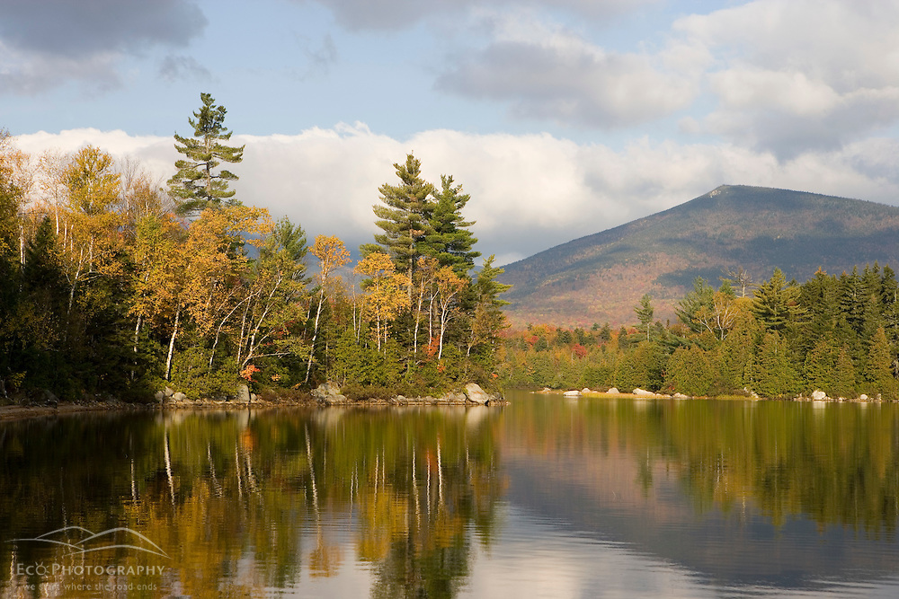 South Turner Mountain as seen from Katahdin Lake near Maine's Baxter State Park.