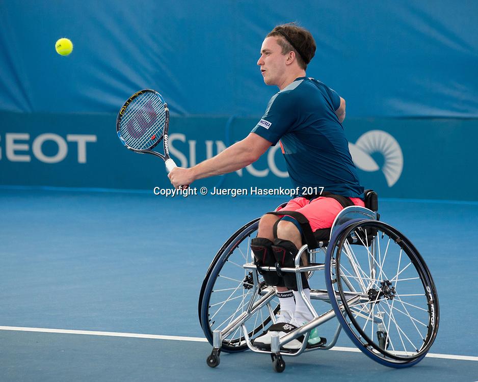 GORDON REID (GBR), Rollstuhl Tennis<br /> <br /> Tennis - Brisbane International  2017 - ITF -  Pat Rafter Arena - Brisbane - QLD - Australia  - 6 January 2017. <br /> &copy; Juergen Hasenkopf