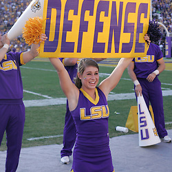 08 November 2008: A LSU Cheerleader perform during Alabama's 27-21 overtime victory over the LSU Tigers at Tiger Stadium in Baton Rouge, LA.