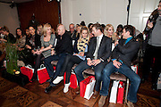 ROSS KEMP; CHARLOTTE TAYLOR; BAND MEMBERS OF BLAKE; HUMPHREY BERNEY; JULES KNIGHT; STEPHEN BOWMAN; OLLIE BAINES; , Stephane St. Jaymes Spring Summer 2011 fashion show.<br /> The Westbury Mayfair, Bond Street, London,DO NOT ARCHIVE-© Copyright Photograph by Dafydd Jones. 248 Clapham Rd. London SW9 0PZ. Tel 0207 820 0771. www.dafjones.com.