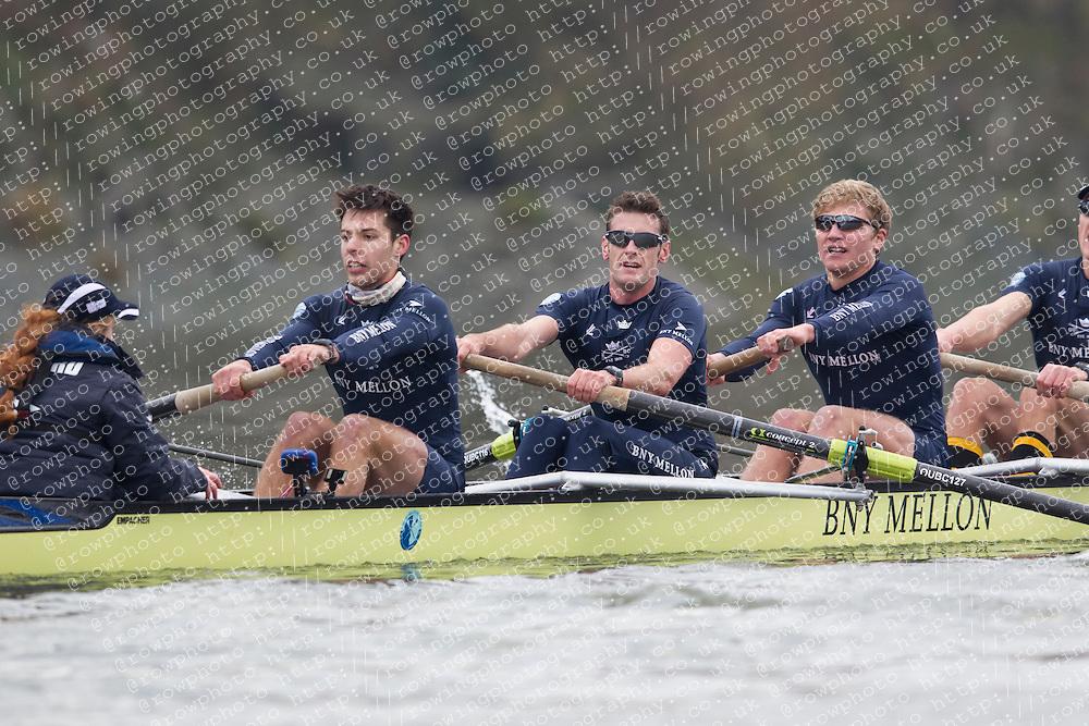 2012.12.13 Boat Race 2013 - Trial Eights. Putney to Mortlake. London.