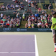 March 7, 2015, Indian Wells, California:<br /> Rajeev Ram plays a tiebreaker during Kids Day at the Indian Wells Tennis Garden in Indian Wells, California Saturday, March 7, 2015.<br /> (Photo by Billie Weiss/BNP Paribas Open)