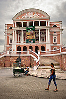 23-05-2006 Manaus, Brazil. The Teatro Amazonas in Manaus is a colonial gem in the middle of the Brazilian Amazon. In the hight of the colonial times it was a must for International theatre groups and musicians to play in the most prestigious theatre in South America.