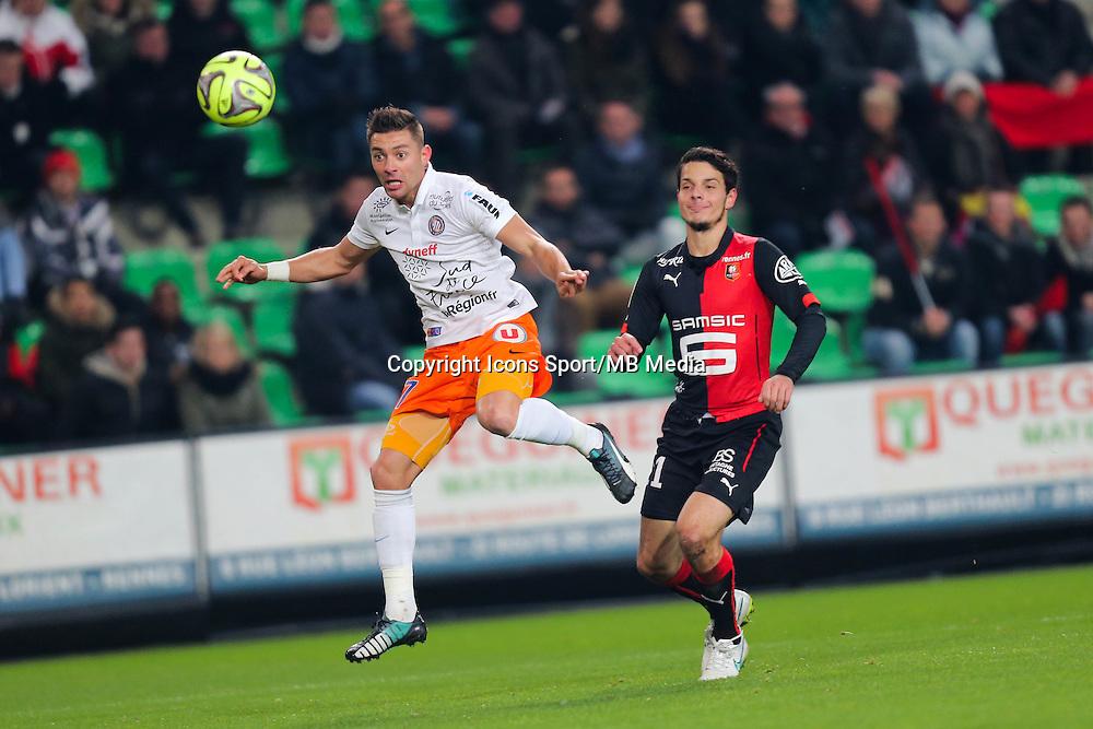Anthony MOUNIER - 06.12.2014 - Rennes / Montpellier - 17eme journee de Ligue 1 -<br />Photo : Vincent Michel / Icon Sport
