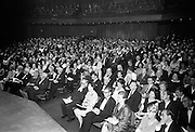 Opening of the new Abbey Theatre, designed by Michael Scott. The first night audience..18.07.1966.<br /> Theatre in Dublin, Ireland. irish historic photos of Abbey Theatre in Dublin, Ireland. irish historic pictures of Abbey Theatre in Dublin, Ireland.<br /> historical images of Abbey Theatre in Dublin, Ireland. irish  historical pictures of Abbey Theatre in Dublin,irish history of Abbey Theatre in Dublin, Ireland. irish history photo of Abbey Theatre in Dublin, Ireland.<br /> irish history photos of Abbey Theatre in Dublin, Ireland. irish history pictures of Abbey Theatre in Dublin, Ireland.<br /> irish vintage photograph of Abbey Theatre in Dublin,<br /> old black and white photos of Abbey Theatre in Dublin, Ireland.<br /> old photographs of Abbey Theatre in Dublin, <br /> old photos of Abbey Theatre in Dublin, <br /> old pictures of Abbey Theatre in Dublin, <br /> photo  of Abbey Theatre in Dublin, <br /> photographs of Abbey Theatre in Dublin, <br /> photos of Abbey Theatre in Dublin, <br /> picture of Abbey Theatre in Dublin, <br /> pictures of Abbey Theatre in Dublin,<br /> ,vintage photos of Abbey Theatre in Dublin, Ireland.<br /> vintage pictures of Abbey Theatre in Dublin,<br /> Pic of Abbey Theatre in Dublin, ,Iconic Image of Abbey Theatre in Dublin,