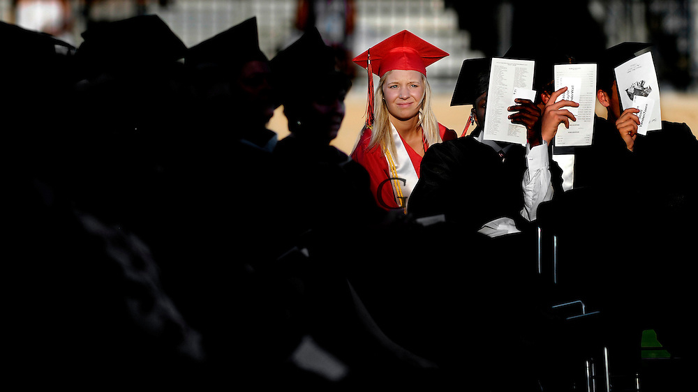 East Kentwood's class of 2012, consisting of 570, graduated on Thursday, May 24 at the East Kentwood High School Football Stadium..Date Shot 5-24-2012.(Matt Gade | MLive.com)