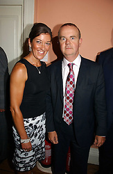 IAN & VICTORIA HISLOP at a party to celebrate the publication of 'A History of The English Speaking Peoples Since 1900' hosted by Andrew Roberts and Susan Gilchrist at the English-Speaking Union, 37 Charles Street, London W1 on 11th September 2006.<br /><br />NON EXCLUSIVE - WORLD RIGHTS