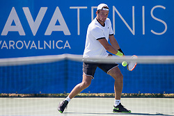 Evgeny Karlovskiy (RUS) play against Bernabe Zapata Miralles (ESP)  at ATP Challenger Zavarovalnica Sava Slovenia Open 2017, on August 7, 2017 in Sports centre, Portoroz/Portorose, Slovenia. Photo by Urban Urbanc / Sportida
