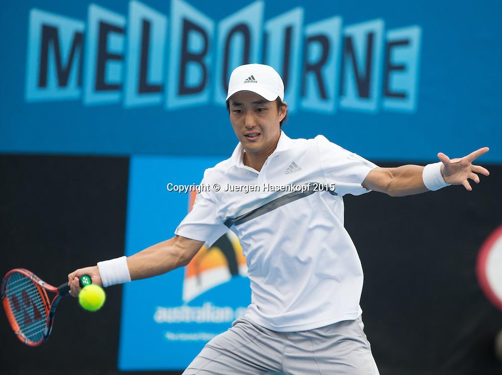 Go Soeda (JPN)<br /> <br />  - Australian Open 2015 -  -  Melbourne Park Tennis Centre - Melbourne - Victoria - Australia  - 20 January 2015. <br /> &copy; Juergen Hasenkopf