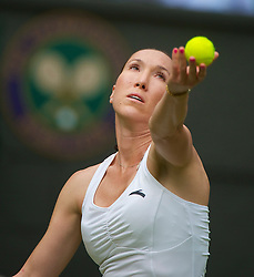 LONDON, ENGLAND - Monday, June 21, 2010: Jelena Jankovic (SRB) during the Ladies' Singles 1st Round match on day one of the Wimbledon Lawn Tennis Championships at the All England Lawn Tennis and Croquet Club. (Pic by David Rawcliffe/Propaganda)