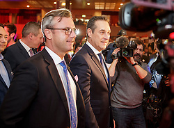 04.03.2017, Messe, Klagenfurt, AUT, FPÖ, 32. Ordentlicher Bundesparteitag, im Bild v.l.n.r. Norbert Hofer und Bundesparteiobmann Heinz Christian Strache // at the 32nd Ordinary Party Convention of the Freiheitliche Partei Oesterreich (FPÖ) in Klagenfurt, Austria on 2017/03/04. EXPA Pictures © 2017, PhotoCredit: EXPA/ Wolgang Jannach