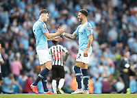 Football - 2018 / 2019 Premier League - Manchester City vs. Newcastle United<br /> <br /> Kyle Walker of Manchester City celebrates at The Etihad.<br /> <br /> COLORSPORT
