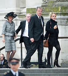 © London News Pictures.17/04/2013. London, UK.  Andrew Lloyd Webber (left) and Jeremy Clarkson (right) arriving at St Paul's Cathedral in London for The Funeral of former British Prime Minister, Margaret Thatcher on April 17, 2013. Photo credit : Ben Cawthra/LNP