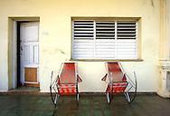Porch in Puerto Esperanza, Pinar del Rio, Cuba.