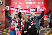 Walsall fans before the Sky Bet League 1 play-off second leg match between Walsall and Barnsley at the Banks's Stadium, Walsall, England on 19 May 2016. Photo by Nigel Cole.