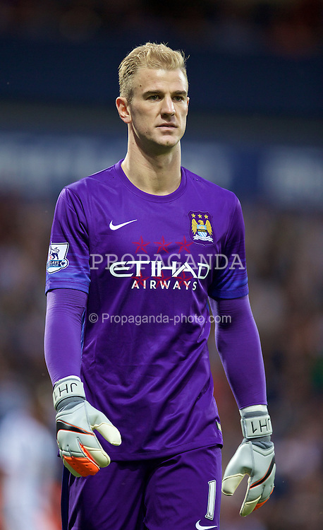 WEST BROMWICH, ENGLAND - Monday, August 10, 2015: Manchester City's goalkeeper Joe Hart in action against West Bromwich Albion during the Premier League match at the Hawthorns. (Pic by David Rawcliffe/Propaganda)