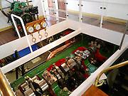 Schaufelraddampfer Weiße Flotte, Maschine, Dresden, Sachsen, Deutschland. .paddle wheel steamer, engine, Dresden, Germany