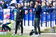 Rochdale manager Brian Barry-Murphy during the EFL Sky Bet League 1 match between Bolton Wanderers and Rochdale at the University of  Bolton Stadium, Bolton, England on 19 October 2019.
