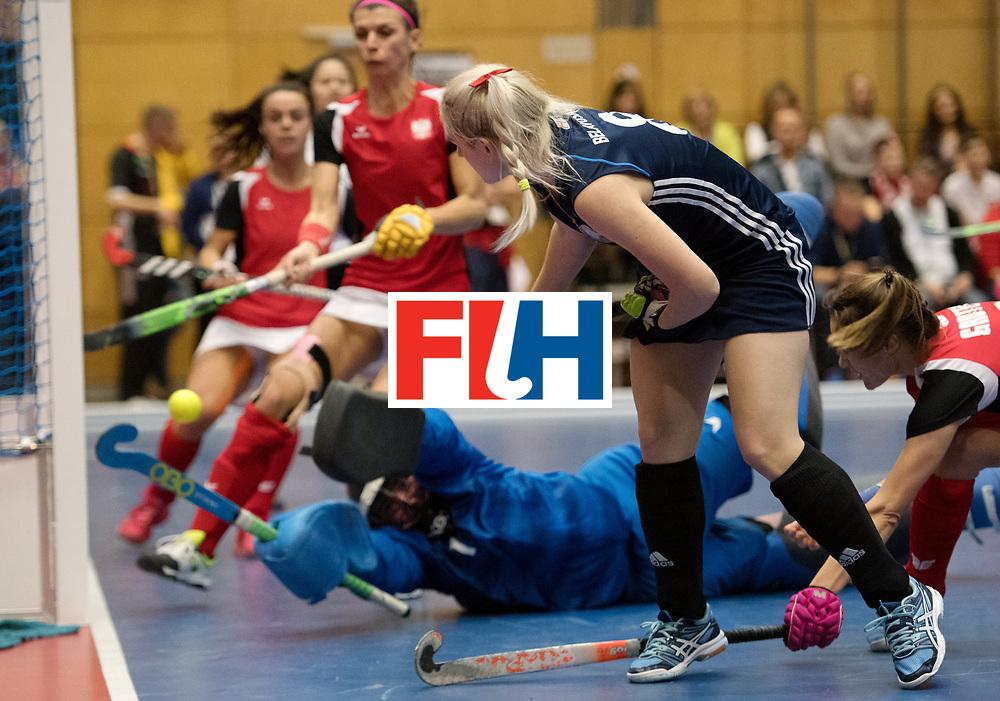 BERLIN - Indoor Hockey World Cup<br /> Belarus - Poland<br /> foto: Darya Belavusava <br /> WORLDSPORTPICS COPYRIGHT FRANK UIJLENBROEK