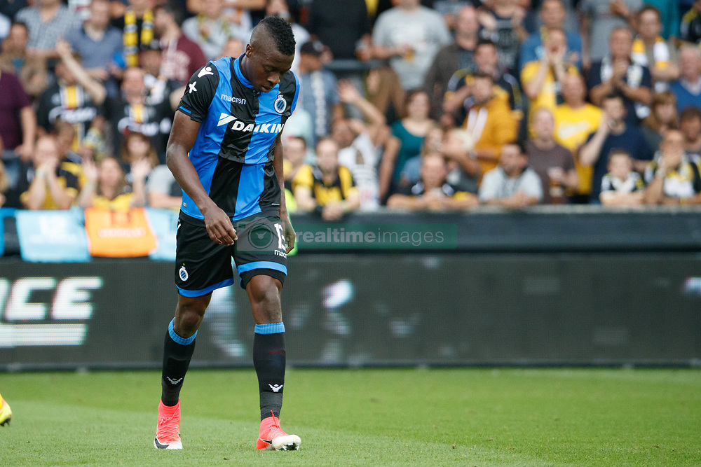 July 29, 2017 - Lokeren, BELGIUM - Club's Helibelton Palacios leaves the field after receiving a red card during the Jupiler Pro League match between Sporting Lokeren and Club Brugge, in Lokeren, Saturday 29 July 2017, on the first day of the Jupiler Pro League, the Belgian soccer championship season 2017-2018. BELGA PHOTO KURT DESPLENTER (Credit Image: © Kurt Desplenter/Belga via ZUMA Press)