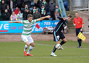 Dundee's Willie Dyer and Celtic&rsquo;s Adam Matthews  - Dundee v Celtic, William Hill Scottish Cup fifth round at Dens Park <br /> <br /> <br />  - &copy; David Young - www.davidyoungphoto.co.uk - email: davidyoungphoto@gmail.com