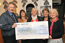 Westport Lions Club presented a donation to Jackie Dever on behalf of Western Care services Westport recently. At the presentation from left Seamus O'Connell, Joan Collins, Jackie Dever, Cathy Noonan and Ronny Doyle President of Westport Lions Club.<br /> Pic Conor McKeown