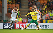 Hull City's David Meyler and Norwich City's James Maddison during the EFL Sky Bet Championship match between Norwich City and Hull City at Carrow Road, Norwich, England on 14 October 2017. Photo by John Marsh.