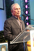 Water Mill, New York:  Former New York City Mayor Michael Bloomberg (honoree) attends the RUSH Philanthropic Arts Foundation 15th Annual Art For Life Benefit Gala held in the Hamptons at the Farmview Farms on July 26, 2014  in Water Mill, New York. (Terrence Jennings)