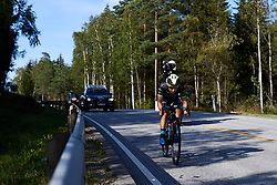 Shannon Malseed (AUS) still has a five minute gap during Ladies Tour of Norway 2019 - Stage 3, a 125 km road race from Moss to Halden, Norway on August 24, 2019. Photo by Sean Robinson/velofocus.com