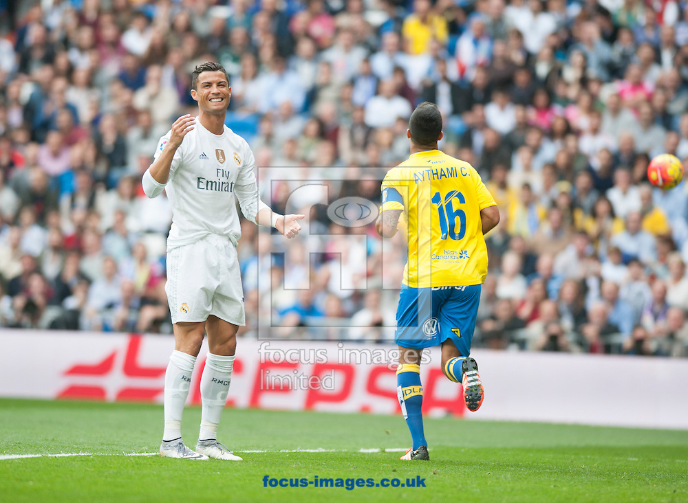 Cristiano Ronaldo of Real Madrid during the La Liga match at the Estadio Santiago Bernabeu, Madrid<br /> Picture by Marcos Calvo Mesa/Focus Images Ltd +34 654142934<br /> 31/10/2015