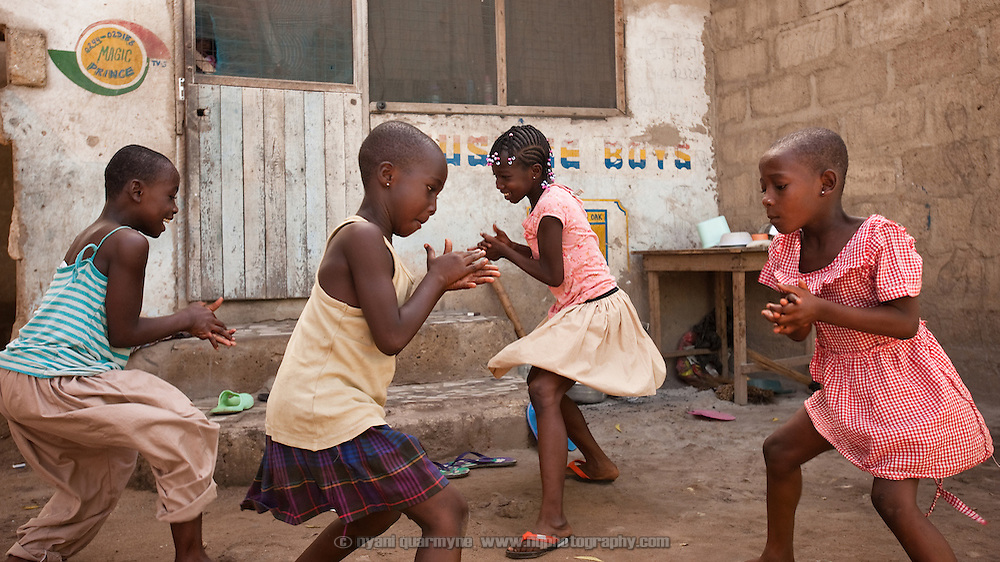 Children at play in Avenor, a slum in Ghana's capital, Accra.