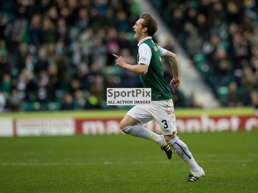 Hibernian FC v St Mirren FC <br /> <br /> Liam Henderson (Hibernian) celebrates opening goal during the SPFL Championship match between Hibernian and St Mirren FC at Easter Road Stadium on Saturday 23 January 2016.<br /> <br /> Picture Alan Rennie.