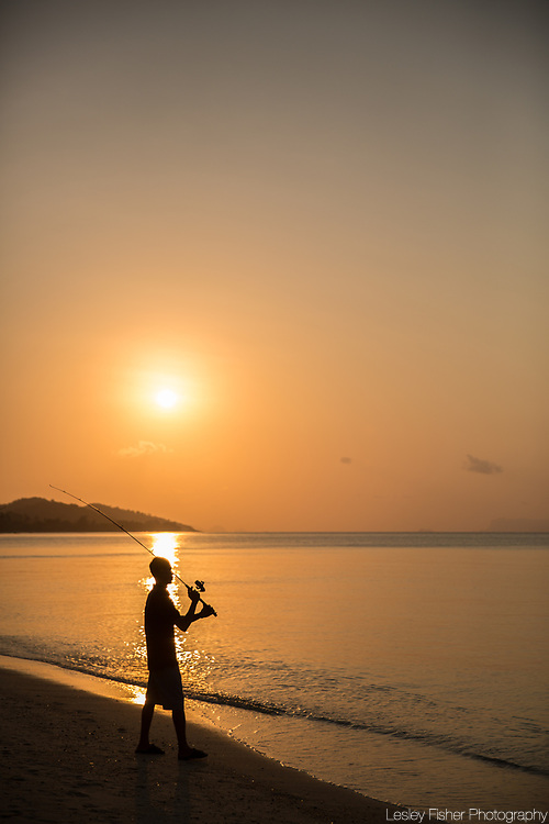 Sunset view at Sea and Sky beach front restaurant located on Ban Tai beach, Koh Samui, Thailand