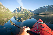 Jackson Lake, Wyoming kayaking photos - Grand Teton stock photos, images, photography