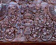 Bateay Srei was built by Jayavarman V who ruled from 968 A.D. until 1001 A.D. and is constidered to be the most intricately carved temple in Cambodia.  It is about 21 km from the northeast part of Bayon.