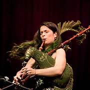 May 15, 2011 - Manhattan, NY : .Cristina Pato performs 'Muineiras' on the Galician bagpipe with Arturo O'Farrill (conducting - not pictured) and the Afro-Latin Jazz Orchestra during Symphony Space's Wall to Wall Sonidos concert on Saturday night. .CREDIT: Karsten Moran for The New York Times