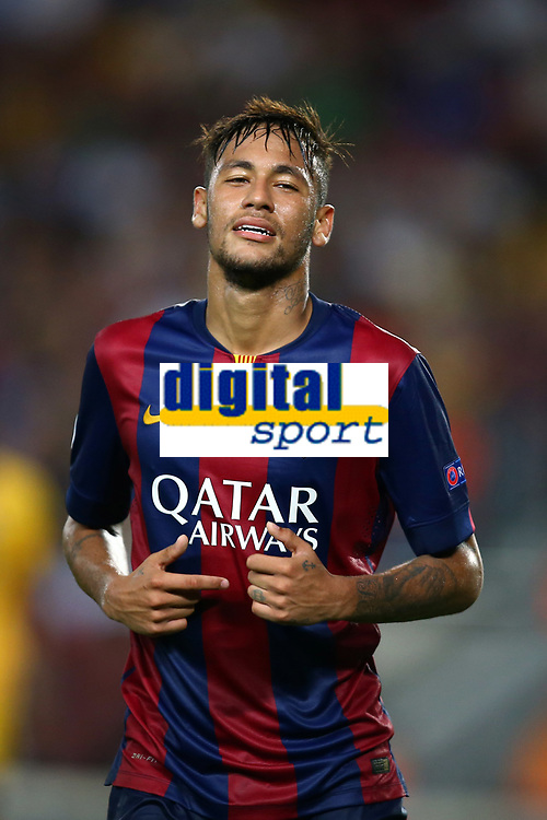 Neymar Jr of FC Barcelona during the UEFA Champions League, Group F, football match between FC Barcelona and Apoel FC on September 17, 2014 at Camp Nou stadium in Barcelona, Spain. Photo Manuel Blondeau / AOP.Press / DPPI