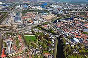 Nederland, Overijssel, Zwolle, 01-05-2013; westelijk deel van de binnenstad met water van  Potgietersingel,  Museum De Fundatie en toren de Peperbus (Basiliek van Onze Lieve Vrouw ten Hemelopneming). Links Park Eekhout<br /> Western part inner-city Zwolle.<br /> luchtfoto (toeslag op standaardtarieven);<br /> aerial photo (additional fee required);<br /> copyright foto/photo Siebe Swart.